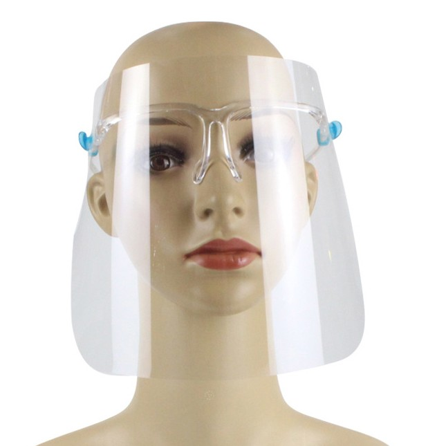 Glass frame type face shield